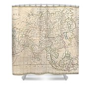 1799 Clement Cruttwell Map Of Asia Shower Curtain