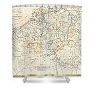 1799 Clement Cruttwell Map Of Belgium Or The Netherlands Shower Curtain