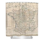 1799 Clement Cruttwell Map Of France In Provinces Shower Curtain