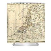 1799 Clement Cruttwell Map Of Holland Or The Netherlands Shower Curtain