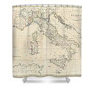 1799 Clement Cruttwell Map Of Italy Shower Curtain