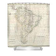 1799 Clement Cruttwell Map Of South America  Shower Curtain