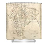 1799 Clement Crutwell Map Of Hindoostan Shower Curtain