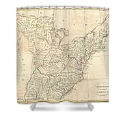 1799 Cruttwell Map Of The United States Of America Shower Curtain