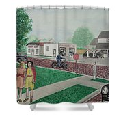 17th And Hutchins Street Portsmouth Ohio Shower Curtain