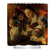 17th Century Maidens Shower Curtain