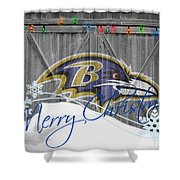 Baltimore Ravens Shower Curtain by Joe Hamilton
