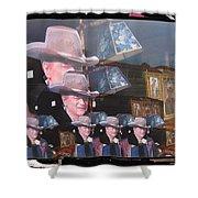 21 Duke's John Wayne Cardboard Cutout Collage Tombstone  Arizona 2004-2009 Shower Curtain