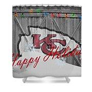 Kansas City Chiefs Shower Curtain by Joe Hamilton