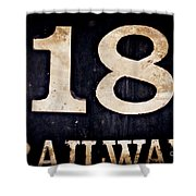 18 Railway Shower Curtain