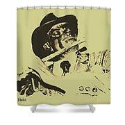 The Jazz Flutist Shower Curtain