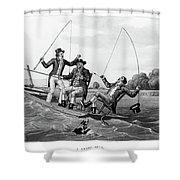 1800s Three 19th Century Men In Boat Shower Curtain