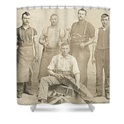 1800's Vintage Photo Of Blacksmiths Shower Curtain
