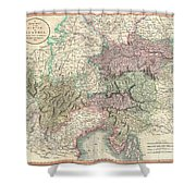 1801 Cary Map Of Austria Shower Curtain