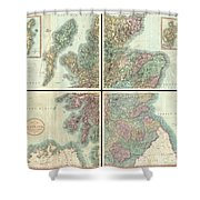1801 Cary Map Of Scotland  Shower Curtain