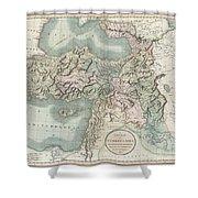 1801 Cary Map Of Turkey Iraq Armenia And Sryia Shower Curtain