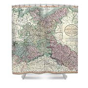 1801 Cary Map Of Upper Saxony Germany  Berlin Dresden Shower Curtain