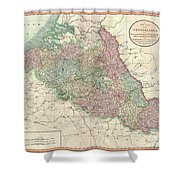 1804 Cary Map Of Belgium And Luxembourg Shower Curtain