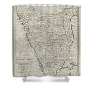 1804 German Edition Of The Rennel Map Of India Shower Curtain