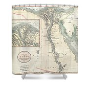 1805 Cary Map Of Egypt Shower Curtain