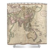 1806 Cary Map Of Asia Polynesia And Australia Shower Curtain