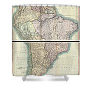 1807 Cary Map Of South America Shower Curtain