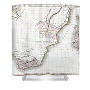 1809 Pinkerton Map Of Southern Africa Shower Curtain