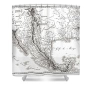 1811 Humboldt Map Of Mexico Texas Louisiana And Florida Shower Curtain