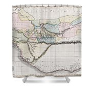 1813 Pinkerton Map Of Western Africa Shower Curtain