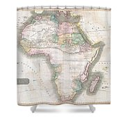 1813 Thomson Map Of Africa Shower Curtain