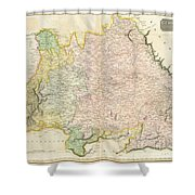 1814 Thomson Map Of Bavaria Germany Shower Curtain