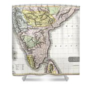 1814 Thomson Map Of India Shower Curtain