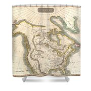 1814 Thomson Map Of North America Shower Curtain