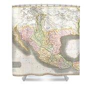 1814 Thomson Map Of Texas Mexico  Louisiana Shower Curtain
