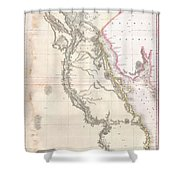 1818 Pinkerton Map Of Egypt Shower Curtain