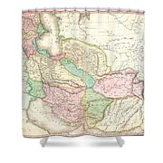 1818 Pinkerton Map Of Persia  Shower Curtain