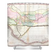1818 Pinkerton Map Of Western Africa  Shower Curtain