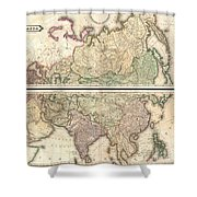 1820 Lizars Wall Map Of Asia Shower Curtain