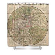1820 Mogg Pocket Or Case Map Of London Shower Curtain