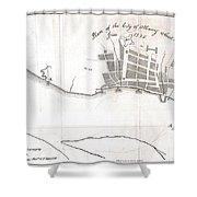 1820 Yates Map Of Albany Circa 1770 Shower Curtain