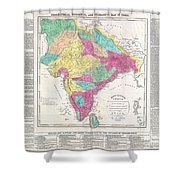 1821 Carey Map Of India  Shower Curtain