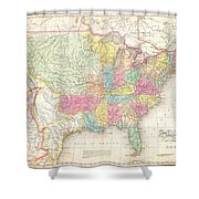 1823 Melish Map Of The United States Of America Shower Curtain
