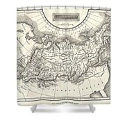 1826 Assheton Map Of Russia In Asia Shower Curtain