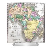 1827 Finley Map Of Africa Shower Curtain