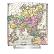 1827 Finley Map Of Asia And Australia Shower Curtain