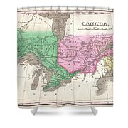 1827 Finley Map Of Canada  Shower Curtain