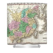 1827 Finley Map Of China  Shower Curtain