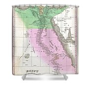 1827 Finley Map Of Egypt Shower Curtain