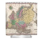 1827 Finley Map Of Europe Shower Curtain