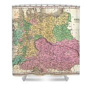 1827 Finley Map Of Germany Shower Curtain